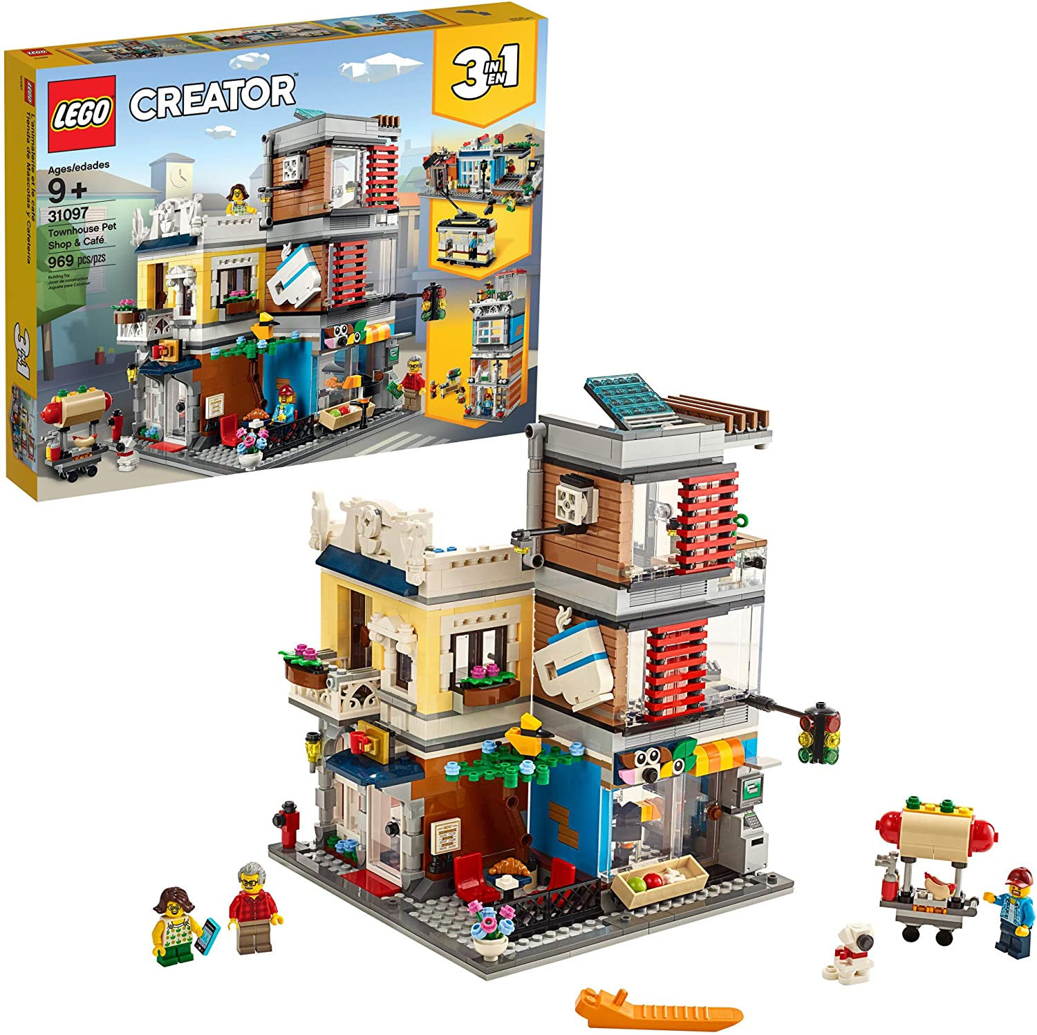 Lego Creator 31097 3-in-1 pet shop and cafe box with pieces
