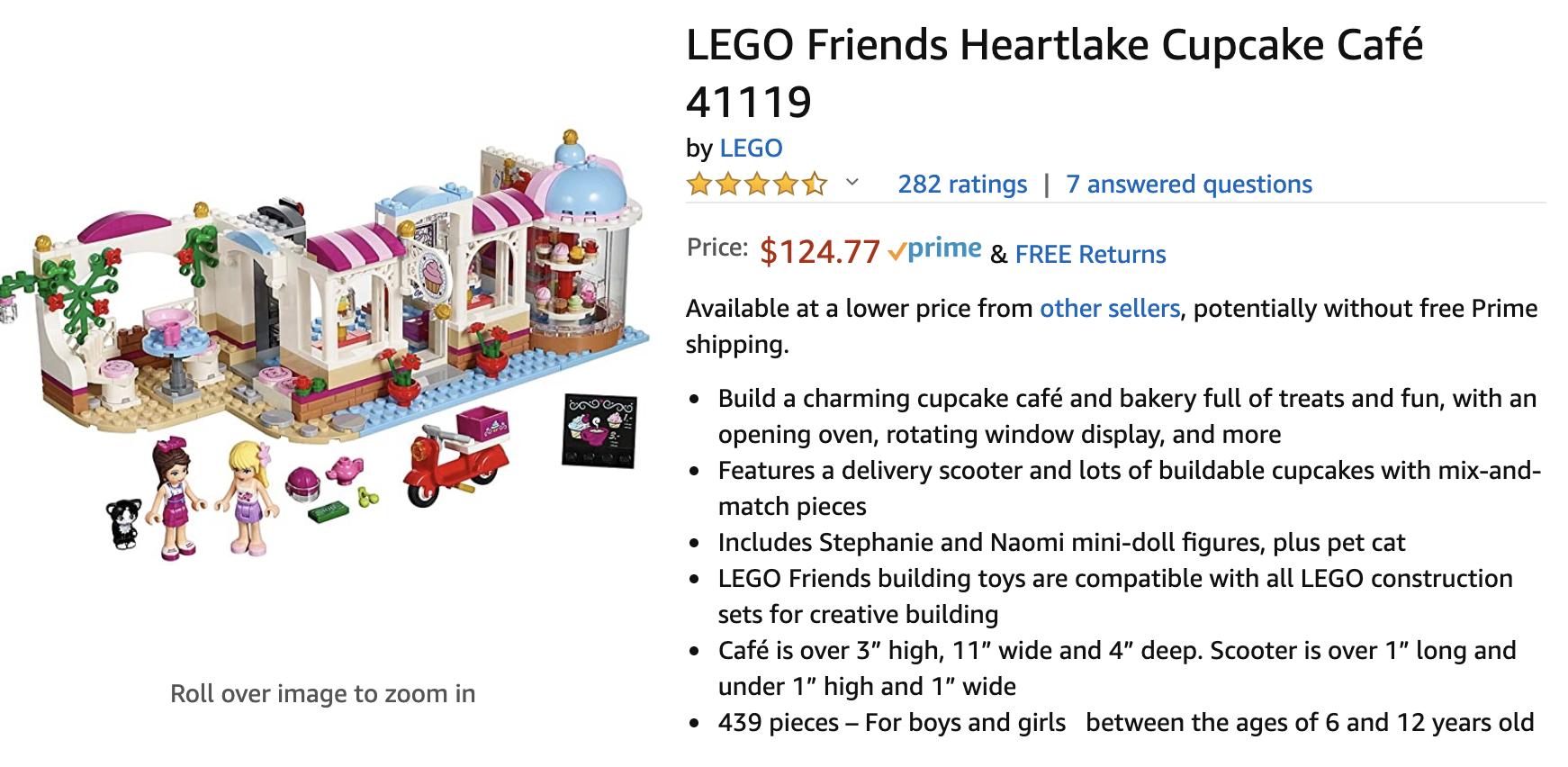 LEGO 41119 Heartlake Cupcake Cafe